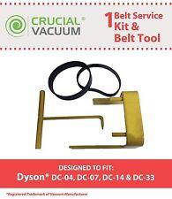 Dyson DC07 DC14 Belt Change Tool & 2 Belts # 05361-01-02 02514-01-01 10-10000-08
