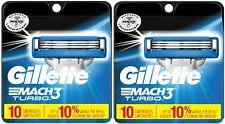 2 Pack - Gillette Mach 3 Turbo - 10 Cartridges (Each)