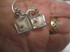 Vintage Mustard Seed Earrings.  Sterling silver ear wires.