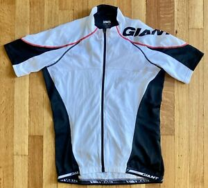 GIANT CYCLING JERSEY - MEN'S LARGE - BLACK AND WHITE - RIDE LIFE RIDE GIANT
