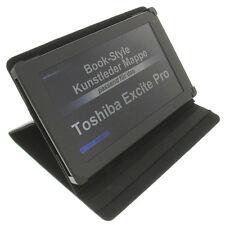 Funda para Toshiba Excite Pro Book Style protectora tableta Soporte Mesa Negro