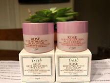 Lot of 2 Fresh Rose Deep Hydration Face Cream mini size 0.24oz / 7ml each