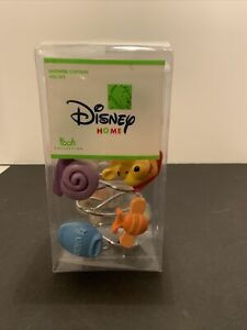 WINNIE THE POOH Theme Shower Curtain Hooks DISNEY HOME Adorable! RARE NEW
