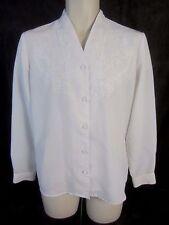 Laura Scott Embellished Long Sleeve Button Blouse Top Shirt - Women's 10 - GG280