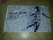 Fahne Audi Cup 2017 FC Bayern München Liverpool Neapel Atlético Madrid FCB