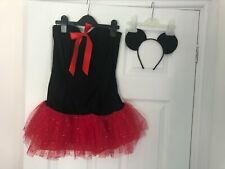 Ann Summers (Mini Mouse inspired) black / Red Tutu Fancy Dress Costume. size 10