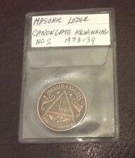 Canongate Kilwinning No.2 Masonic Penny - Robert Rabbie Burns Token 1938-39