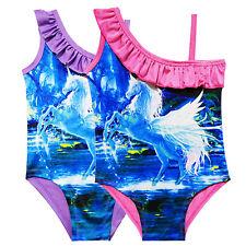 Kids Girls Cold Shoulder Swimwear Swimming Costume Swimsuit Bikini Bathing Suit