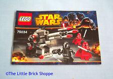 Lego Star Wars 75034 tropas de estrella de la muerte-libro de instrucciones solamente-no Lego