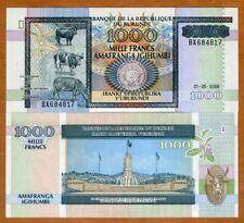 Burundi, 1000 Francs, 2006, P-39d, UNC > Large Size Issue, Cows
