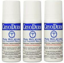 Cryoderm 3 Oz. Roll-On 3-PACK (EXP Date 10/2020)