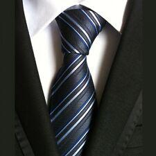 100% Seda Color Negro Hombre Corbata Corbata Formal para Hombres