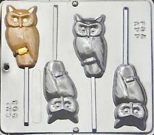Owl Lollipop Chocolate Candy Mold Halloween  903 NEW
