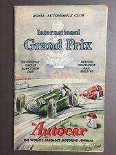 1948 Silverstone International Grand Prix Program Programme 10/2/48 RARE Aweosme