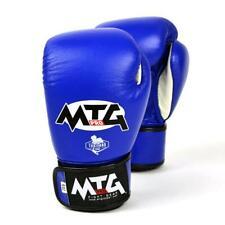 MTG Pro Boxing Gloves Blue Junior Kids Leather Muay Thai