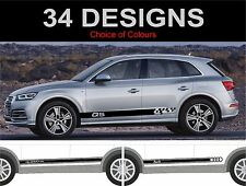 Audi Q5 side stripes decals stickers graphic side stripe fit audi q5