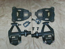 Time RXS Carbon Road Clipless Black Pedals wUsed Cafe Cleats and hardware I-Clic
