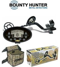 Bounty Hunter Discovery 2200 Metal Detector + Camo Pouch Beach Patio Coins New $