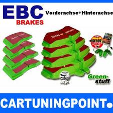 EBC Pastillas Freno Delant. + Eje Trasero Greenstuff para renault Megane cc (