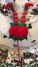 "20"" ELF BUTT LEGS SPRAY PICK FLORAL XMAS DECOR TREE ARRANGEMENT BOOTS Ornament"