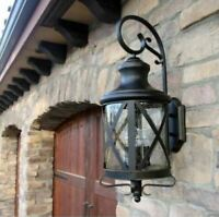 Outdoor Wall Light Lantern Lighting House Sconce Coach Traditional Barn Porch