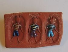 Figures Brooch Dress Pin Estate Fashion Clay Africa
