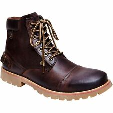 Steve Madden CLAYTIN BROWN Vintage Leather Combat Lace Up Casual Ankle Boot 10