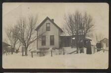 RP Postcard WASHINGTON IA  Mast Family Rural House/Home in Winter #1 view 1910's