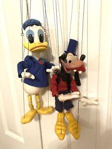 rare 1960 pelham puppet goofy large scarce donald duck box early antique disney