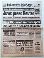 GAZZETTA DELLO SPORT 20-3-1990 STEFAN REUTER ALLA JUVENTUS GULLIT OLANDA