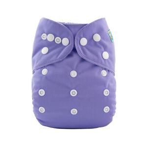 ALVA Baby Cloth Diapers Adjustable Plain Reusable Pocket Nappy Microfiber Insert