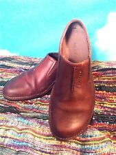 Women's Merrell Shoes Brown Leather Clogs Mules Slip On's Size 7 Air Vents