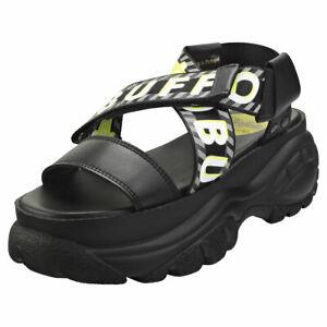 Buffalo Bo Womens Black Platform Sandals - 4 UK