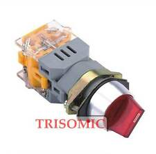 22mm Mount LED Color Red/Green Momentary/Maintained Selector Switch UL