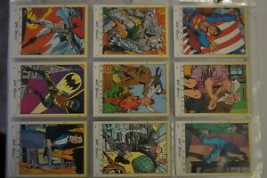 DC Stars set of 45 cards, 9 puzzle cards and 3/4 foil cards issued 1994