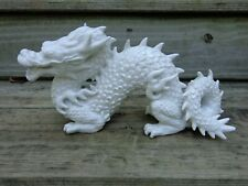 Rare Fitz and Floyd White Porcelain Dragon Sculpture Figurine F22/32 Chinese