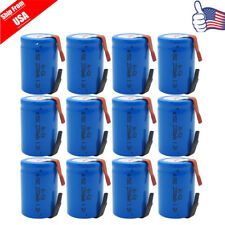 12x 4/5 SC NI-CD Sub C 2200mAh 1.2V  Rechargeable Battery For Power Tool USA