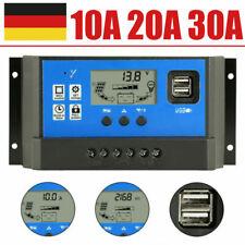 10A 20A 30A Solarregler 12V/24V Auto PV 50V PWM Solar Laderegler LCD USB port DE