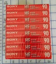 Blank Cassette Tape Sony High Fidelity 8 Pk 90 min  Audio Music & Voice