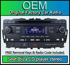 Seat Ibiza CD player, Seat car stereo radio headunit, Supplied with radio code