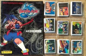BeyBlade Let it Rip Panini album + complete stickers set