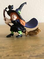Vintage Halloween Friendly Witch Broom Cupcake Toppers Lot Of 12
