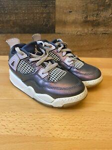 Jordan Jumpman Size 9C 809041-400 Baby Girls Metallic Purple / Gray
