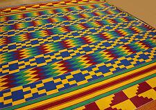 New african kente imprimé ethnique Ghanian tissu chiffon couleurs vives vendus par yard