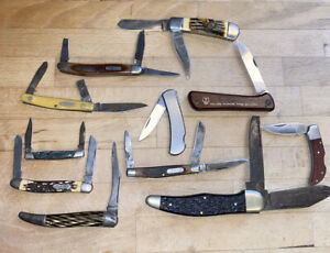 Knife Lot Used Old Timer Winchester Uncle Henry Boker Stainless Steel