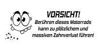 Don't Touch Nicht Berühren Motorrad Aufkleber Sticker Folie Tattoo Finger Weg