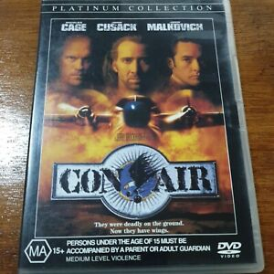 Con Air DVD R4 VERY GOOD - FREE POST