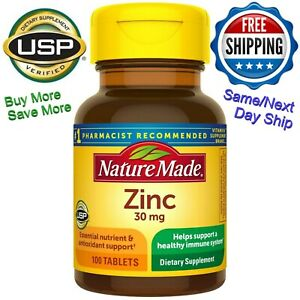 (SAME or NEXT day Shipped) Nature Made Zinc 30mg,100 Tabs Immune Support