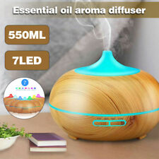550ml Essential Oil Diffuser Humidifier Air Purifier LED Ultrasonic Aromatherapy