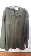 camicia militare verde originale vintage esercito tedesco con cappello!!